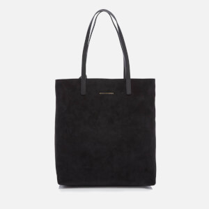 WANT Les Essentiels de la Vie Women's Logan Vertical Tote Bag - Black Suede/Jet Black