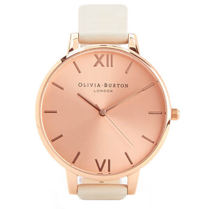 Olivia Burton Women's Big Dial Vegan Watch - Nude & Rose Gold