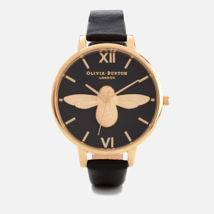 Olivia Burton Women's Bee Watch - Black & Gold