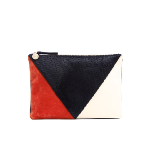 Clare V. Women's Patchwork V Flat Clutch Bag - Patchwork Neuf