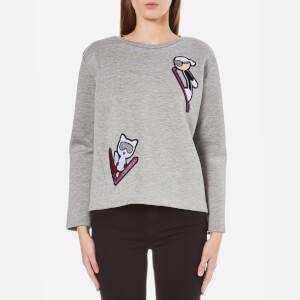 Karl Lagerfeld Women's Karl Ski Patches Sweatshirt - Grey