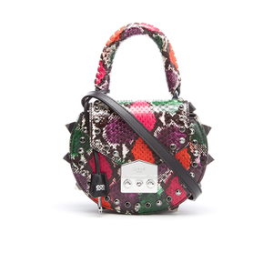 SALAR Women's Mimi Ring Snake Bag - Verde/Rosso