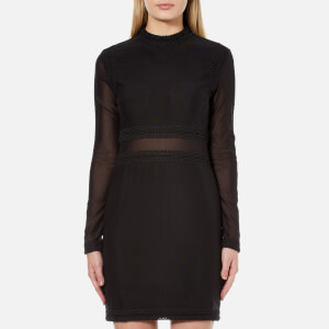 MINKPINK Women's Ladykiller Mesh Dress - Black