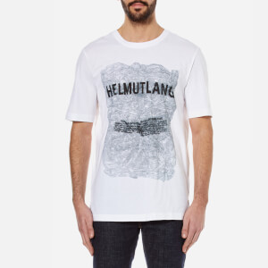 Helmut Lang Men's Box Fit Printed T-Shirt - White Multi