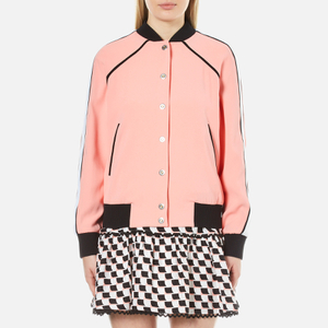 KENZO Women's Crepe Back Satin Bomber Jacket - Flamingo Pink