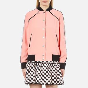 KENZO Women's Crepe Back Satin Bomber Jacket - Flamingo Pink