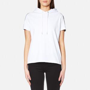 KENZO Women's Cotton Skate Jersey Short Sleeve Hooded Top - White