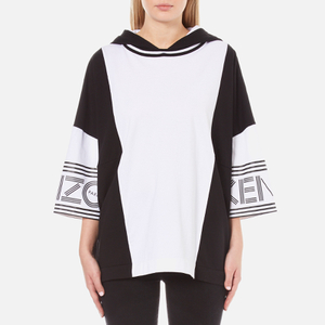 KENZO Women's Cotton Skate Jersey Oversized Hoody - White
