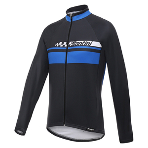 Santini Pilot Thermofleece Long Sleeve Jersey - Blue