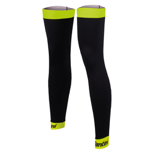 Santini BeHot Leg Warmers - Black/Yellow