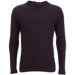Kensington Eastside Men's Henry Cotton Crew Neck Jumper - Dark Navy