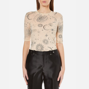 Ganni Women's Linfield Lyocell T-Shirt - Biscotti Galaxy