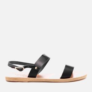 Ancient Greek Sandals Women's Clio Double Strap Vachetta Leather Sandals - Marine