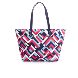 Lauren Ralph Lauren Women's Bainbridge Nylon Tote Bag - Marine Multi Geo