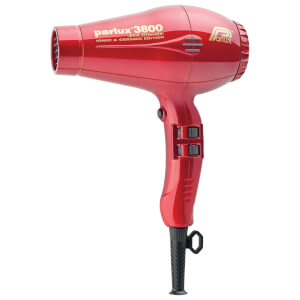 Parlux 3800 Ceramic & Ionic Hair Dryer 2100W - Red