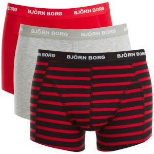 Bjorn Borg Men's 3 Pack Stripe Detail Boxers - Black