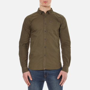 Superdry Men's Rinsewash Oxford Shirt - Khaki