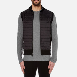 Michael Kors Men's Padded Front Vest - Black