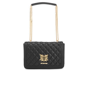 Love Moschino Women's Quilted Chain Tote Bag - Black