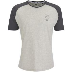 Crosshatch Men's Terrace T-Shirt - Light Grey Marl/Magnet