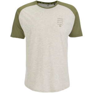 T-Shirt Homme Crosshatch Terrace -Kaki