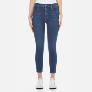 J Brand Women's Alana High Rise Cross Hatch Super Stretch Crop Jeans - Connection