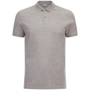 Jack & Jones Men's Originals Perfect Jersey Polo Shirt - Light Grey Marl