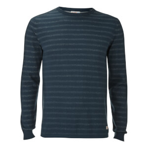 Pull Originals Léo Stripe Jack & Jones -Bleu Foncé Denim