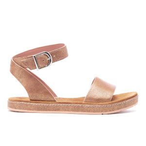 Clarks Women's Romantic Moon Leather Barely Sandals - Gold