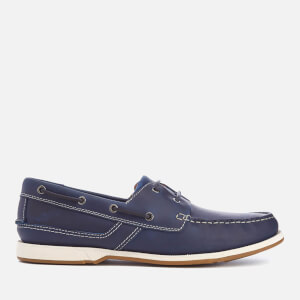 Clarks Men's Fulmen Row Leather Boat Shoes - Navy