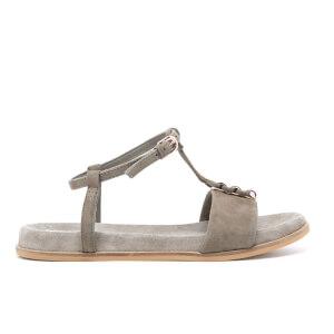 Clarks Women's Agean Cool Suede T Bar Sandals - Sage