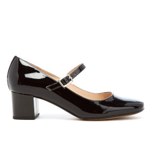 Clarks Women's Chinaberry Pop Patent Mary Jane Mid Heels - Black