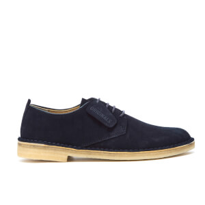 Clarks Originals Men's Desert London Derby Shoes - Midnight Suede