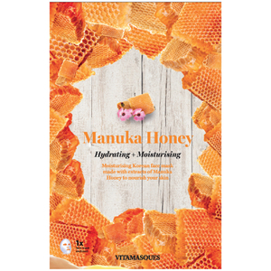 Masque-tissu hydratant au miel de Manuka Vitamasques