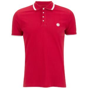 Pretty Green Men's Multistripe Polo Shirt - Red