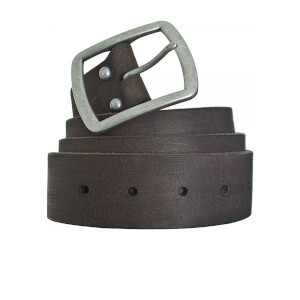 Superdry Men's Distressed Classic Belt in a Box - Dark Brown