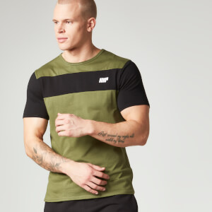 Myprotein Men's Core Stripe T-Shirt - Khaki