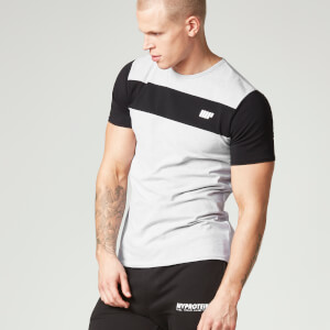 Myprotein Heren Core Stripe T-Shirt - Grijs