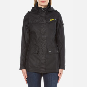 Barbour International Women's International Switch Wax Parka - Navy