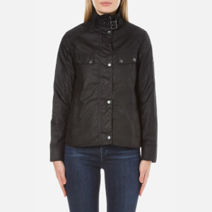 Barbour International Women's Atomizer Wax Jacket - Black