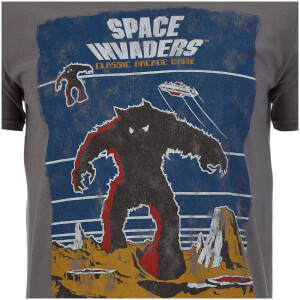 Atari Men's Space Invaders Arcade Graphics T-Shirt - Grey: Image 3