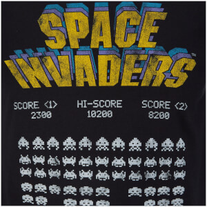 Atari Men's Space Invaders Classic Screenshot T-Shirt - Black: Image 3