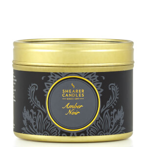 Luxus kleine Zinn Kerze - Amber Noir