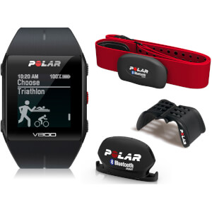Polar V800 GPS Sports Watch Combo with Heart Rate Monitor - Black