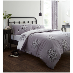 Parure de lit réversible Fleurs Mauves Catherine Lansfield