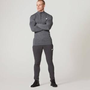Myprotein Muška ¼ Zip Majica Bez Šavova - Crni Lapor