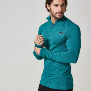 Myprotein Men's Seamless Long Sleeve 1/4 Zip Top - Teal