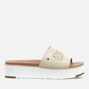 UGG Women's Delaney Treadlite Leather Flatform Slide Sandals - Canvas