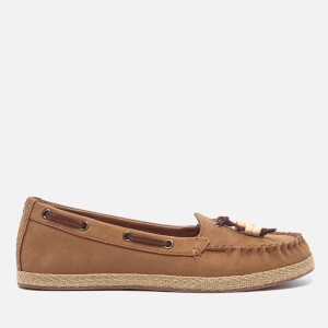 UGG Women's Suzette Nubuck Moccasin Shoes - Chestnut