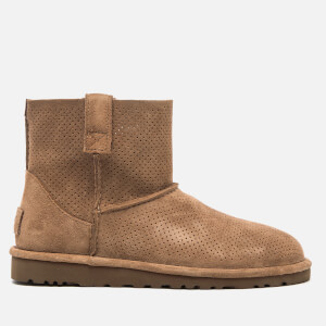 UGG Women's Classic Unlined Perforated Suede Mini Ankle Boots - Tawny